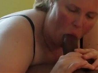 BBC Lover Manger at work Loves Sucking Cock. Kinky BBW