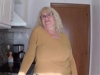 Mature Fina and her ENORMOUS TITS are a treat for any rookie