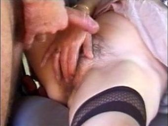 Hairy granny hard fucked in the car