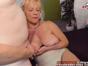 German mature mom fucks her own son