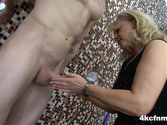 CFNM Granny Rubbed my Jizz onto her Pussy
