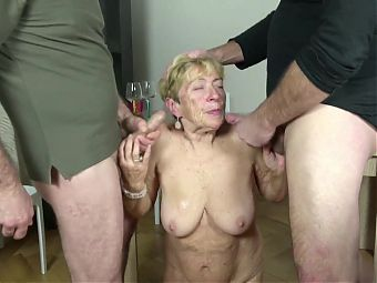 Granny Mayla gets two meaty packages on her birthday
