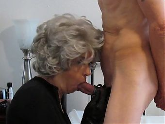 Grey Haired Granny Loves cock down her Neck. Dirty Gilf
