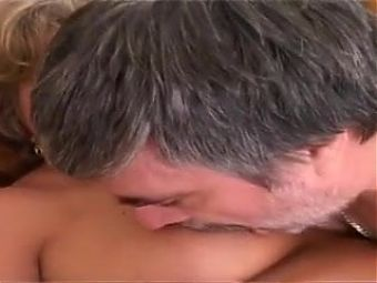 Nanny with a perfect body fucks dad in the right way