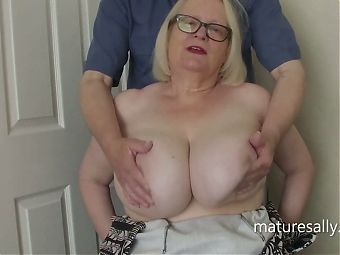 Sally loves having her tits fondled