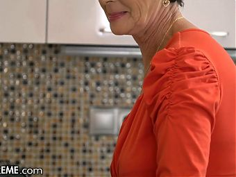 Horned Up Granny Is Curious For Cock