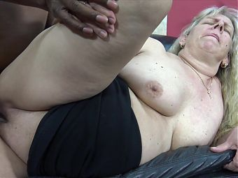 Greedy granny seduced by horny stepson