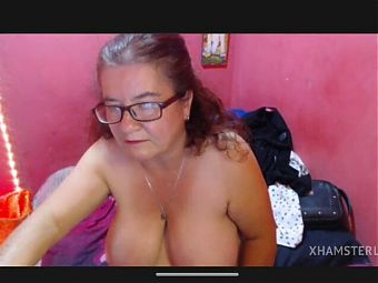 Granny Esmeralda – nude hairy pussy, big saggy tits and ass