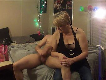 Jacking off for 63 year old friend I met visiting my mom