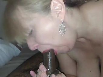 Mature teacher BBC fellatio