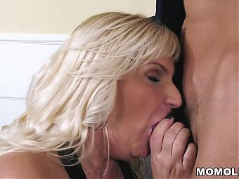 Busty granny wants her lovers big dick